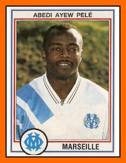 09-Abedi PELE - Olympique Marseille 1993 Panini