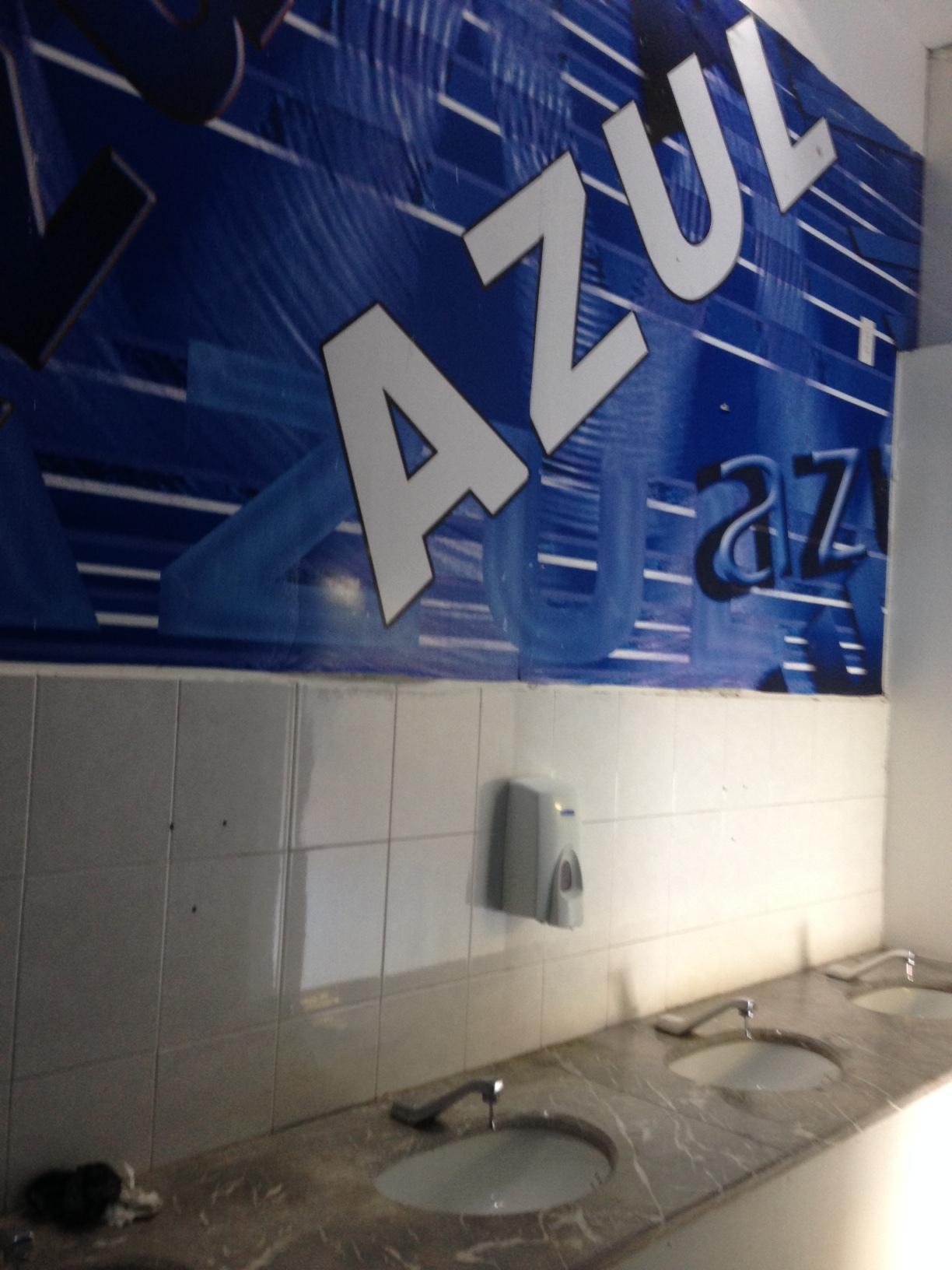 El Bano Azul.Devisita En El Bano Del Estadio Azul Pamboleras