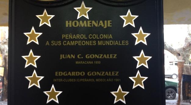 Placa conmemorativa Colonia, Uruguay</span> <p class=